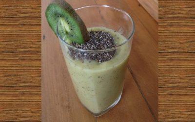 Smoothie de kiwi e banana